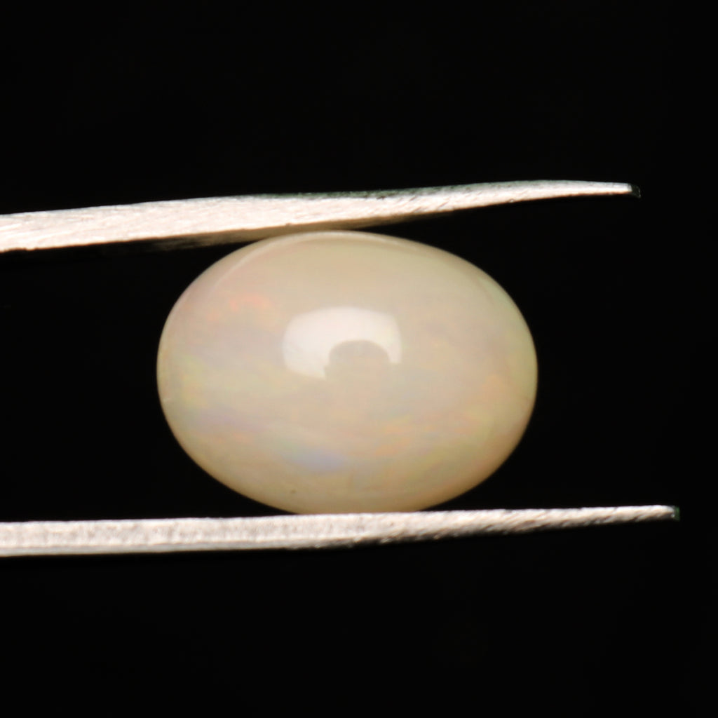 EGL Certified Natural Oval Cabochon White Opal Loose Gemstone, 4.00 Ct. White Opal Gemstone For Jewelry Making LD-75