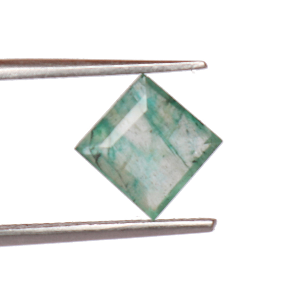 Natural Green Emerald Loose Gemstone, 2.00 Ct. Square Cut Certified Green Emerald Loose Gemstone For Ring LM-127