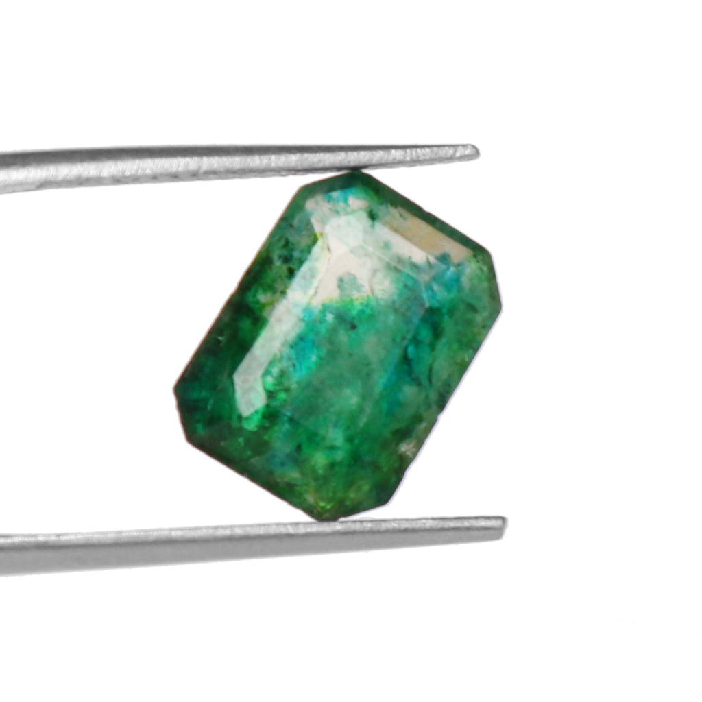 Natural Certified Green Emerald Loose Gemstone, 5.00 Ct. Emerald Cut Green Emerald Loose Gemstone For Ring LM-129