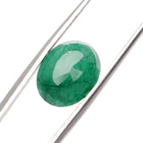 Natural Green Emerald Loose Gemstone, 6.50 Ct. 13 mm EGL Certified Oval Cut Green Emerald Loose Gemstone For Ring LM-540