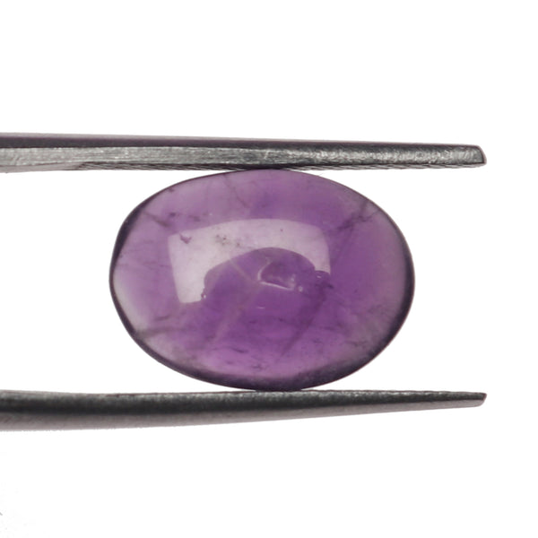 EGL Certified Natural Violet Amethyst Loose Gemstone 2.50 Ct. Brilliant Oval Cabochon Shape Amethyst Gemstone For Jewelry Making LM-824