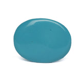 EGL Certified Natural Blue Turquoise Loose Gemstone 31.50 Ct. Brilliant Oval Cabochon Shape Blue Turquoise Gemstone For Jewelry Making LN-279