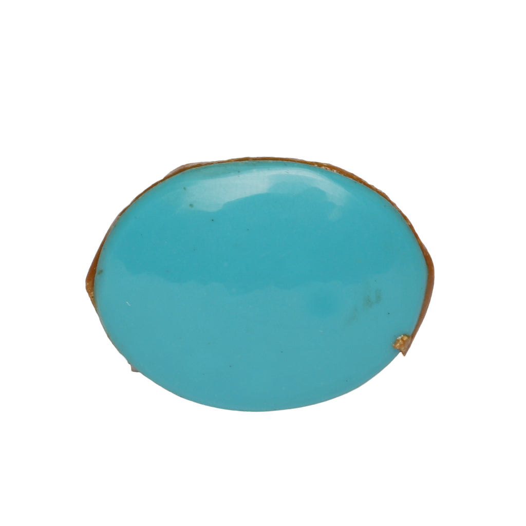 Certified Natural Oval Cabochon Blue Turquoise Loose Gemstone 32.50 Ct. Blue Turquoise Gemstone For Jewelry Making LN-291