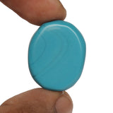 Certified Natural Blue Turquoise Loose Gemstone 38.50 Ct. Fine Oval Cabochon Shape Blue Turquoise Gemstone For Jewelry Making LN-311