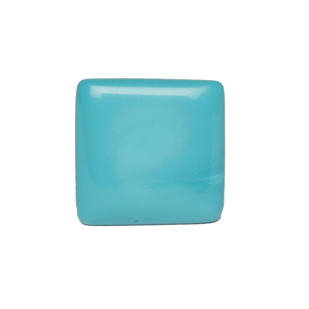 Certified 100% Natural Blue Turquoise Loose Gemstone 18.50 Ct. Fine Square Cabochon Shape Blue Turquoise Gemstone For Jewelry Making LN-332