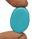 Loose Natural Blue Turquoise Gemstone 16.50 Ct. Brilliant Oval Cabochon Shape EGL Certified Blue Turquoise Gemstone For Jewelry Making LN-340