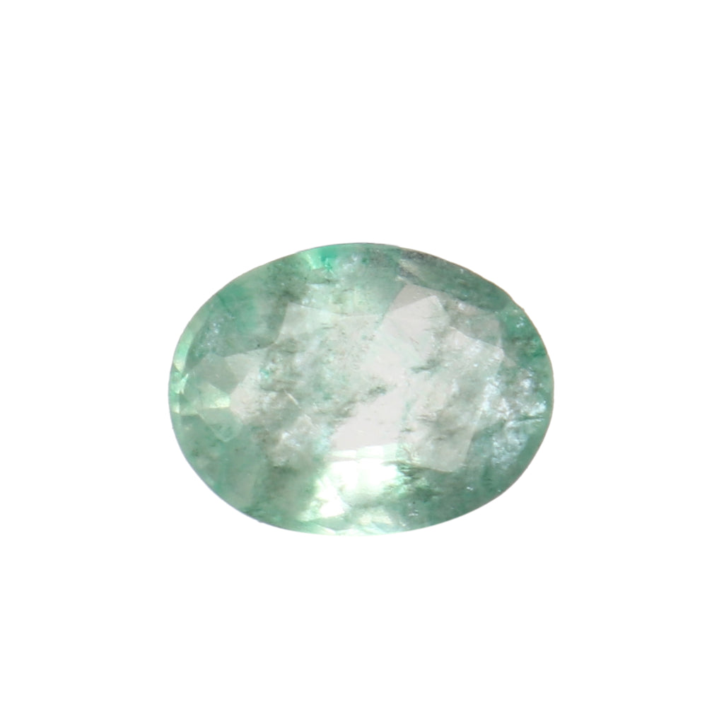 Certified Natural Green Emerald Loose Gemstone, 3.50 Ct. Oval Cut Green Emerald Loose Gemstone For Ring LN-588