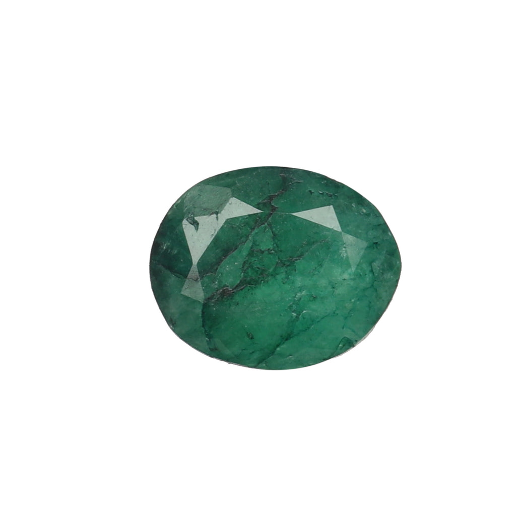 Certified Natural Green Emerald Loose Gemstone, 4.50 Ct. Oval Cut Green Emerald Loose Gemstone For Ring LN-610