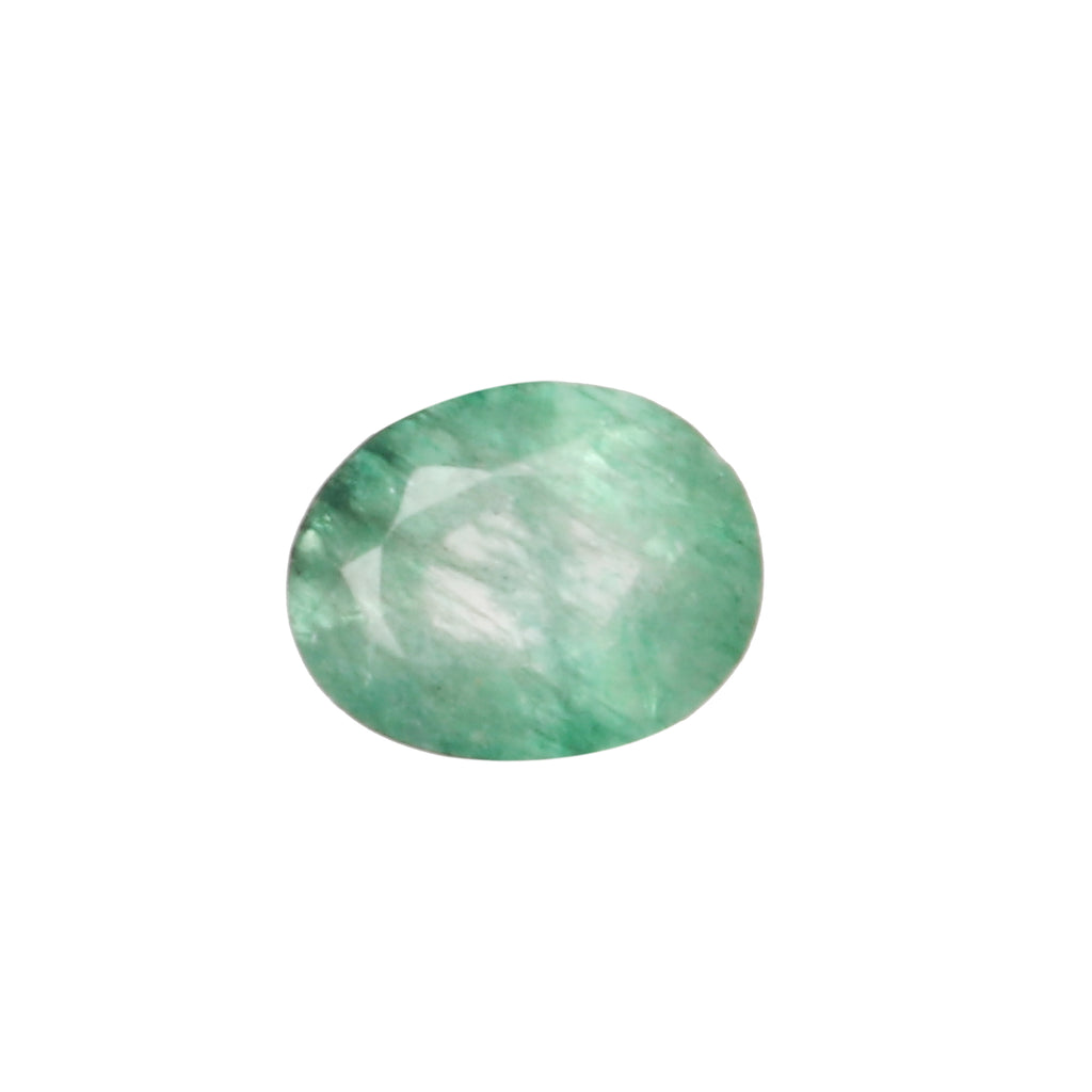 EGL Certified Natural Green Emerald Loose Gemstone, 5.00 Ct. Oval Cut Green Emerald Loose Gemstone For Ring LN-647