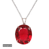 Oval Cut Pink Tourmaline Pendant Necklace, 925 Sterling Silver Pendant Necklace, Jewelry For Girls