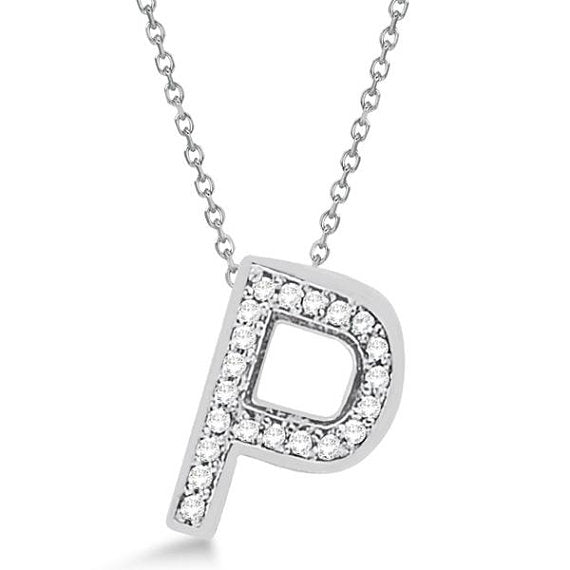 0.80 to 1.50 Inch Fashion 925 Sterling Silver Pendant Initial Charm P Letter Alphabet Pendant For Men & Women