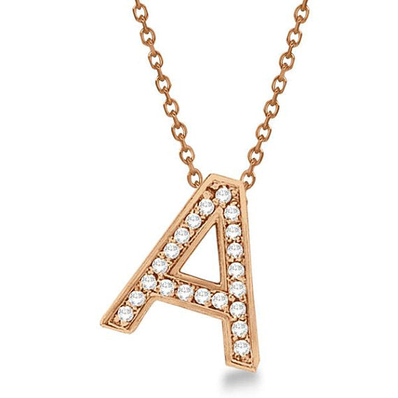 Letter A Alphabet Initial Charms & Pendants Letter Rose Gold Alphabet Gift For Women/Men,Sizes- 0.75 to 1 Inch