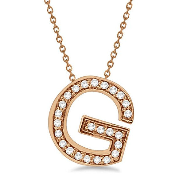 0.80 to 1.50 Inch Fashion Rose Gold Pendant Initial Charm 'G' Letter Alphabet Pendant For Men & Women