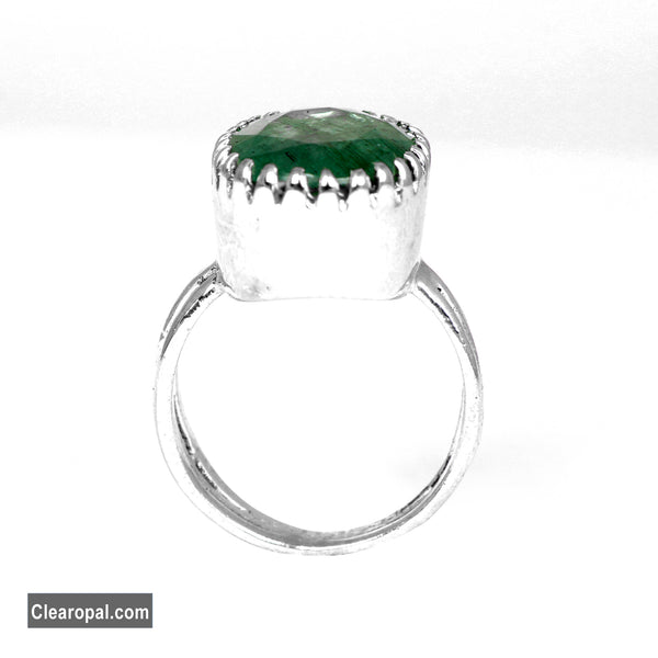 Beautiful Emerald Ring for Women, Oval Emerald Ring, Sterling Silver Green Gemstone Ring, @Sizes Available 5ct To 15ct