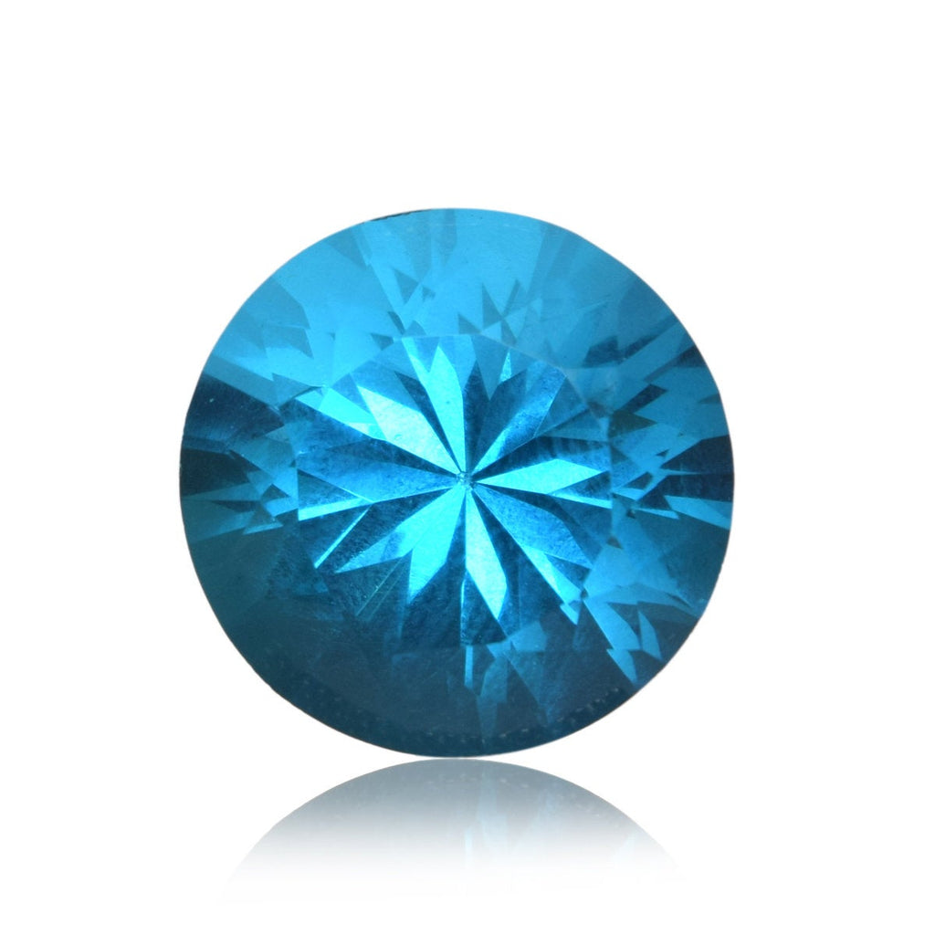 AA Grade Blue Mystic Topaz 24.85 Ct Round Cut Translucent Blue Mystic Topaz Loose Gemstone For jewelry BU-135