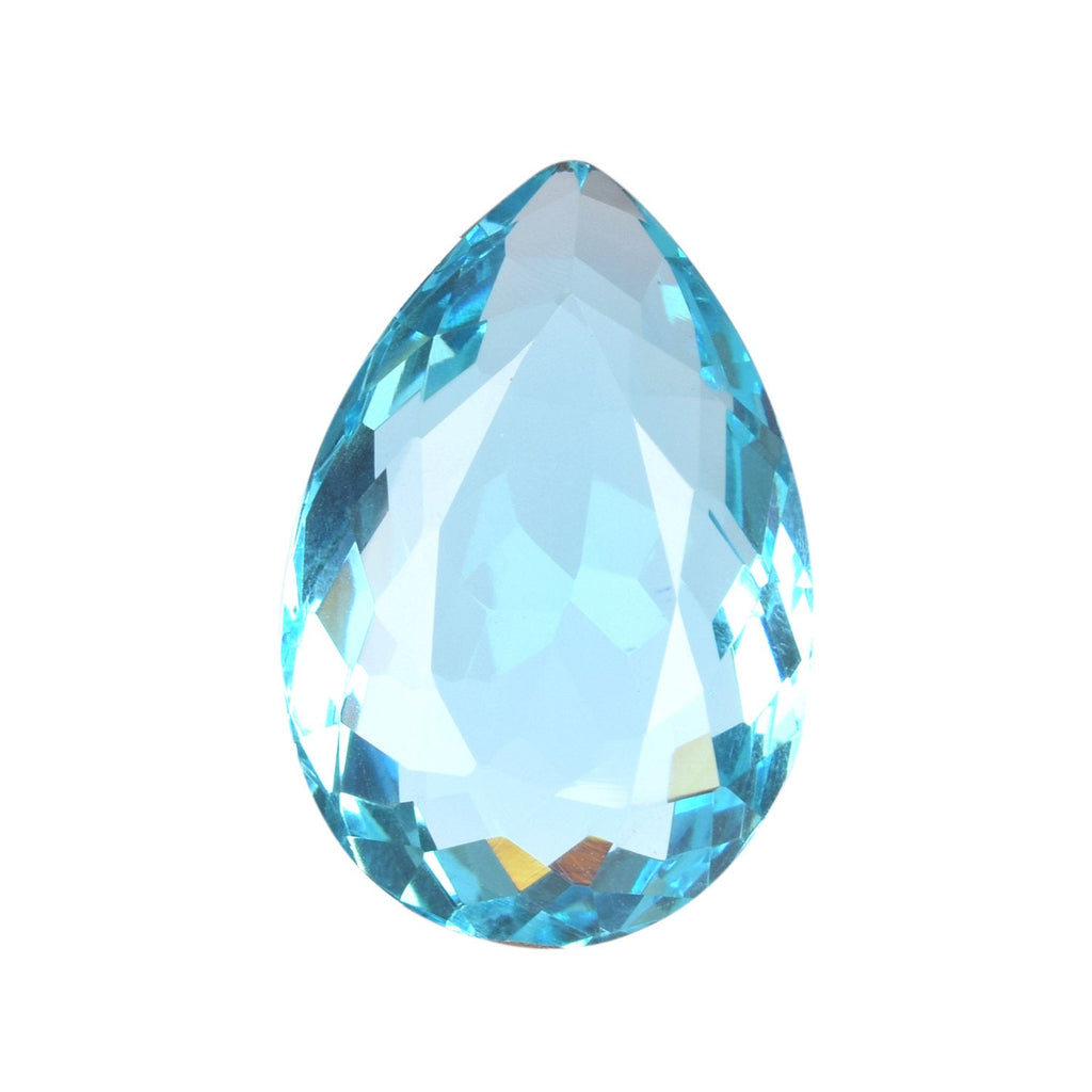 The Excellent Special Pear Cutting Swiss Blue Topaz .For Anniversary,Bridal,Promise Gift,etc., Translucent Lab Created Toapz Gems, BV-273