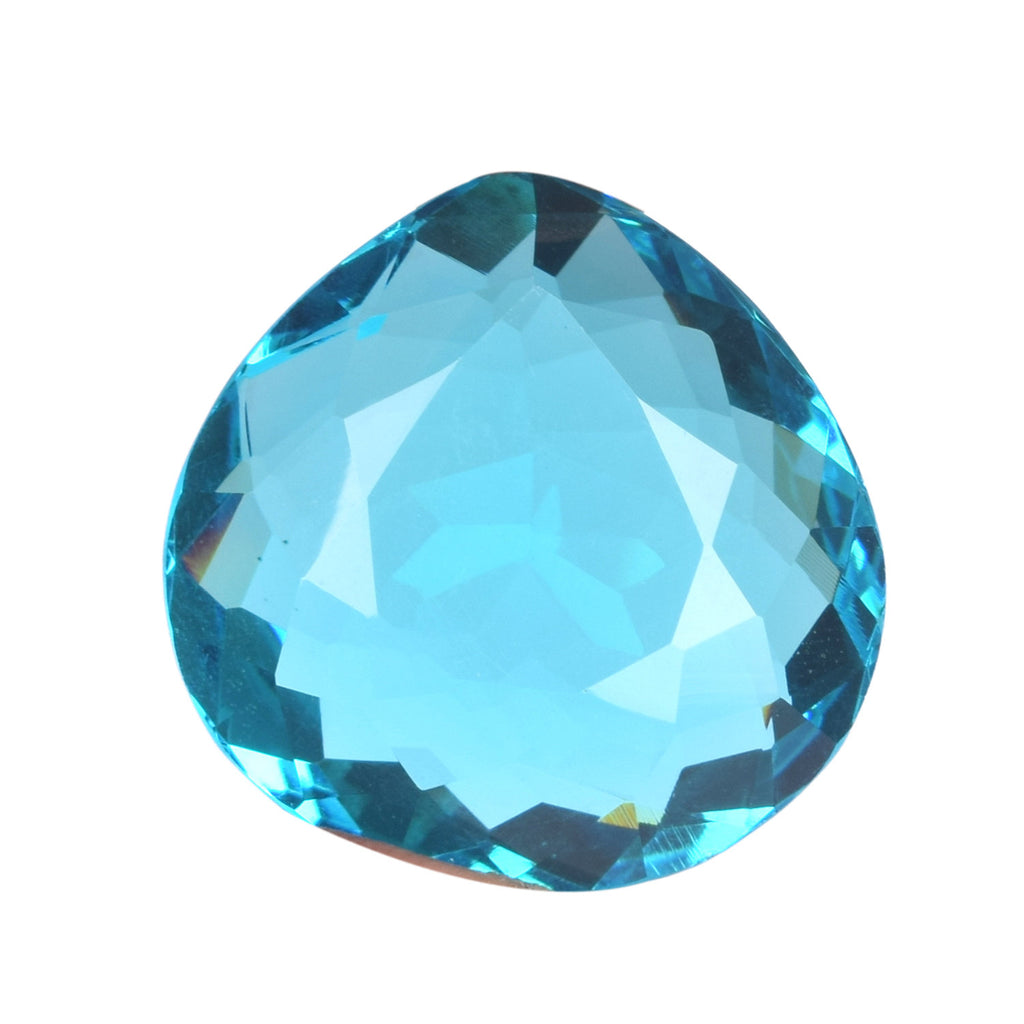Swiss Blue Topaz Brilliant Cut Pear Shape Good Quality Blue Color Topaz Gemstone, 31x30x17 mm Faceted Topaz Loose Gemstone Making Jewelry
