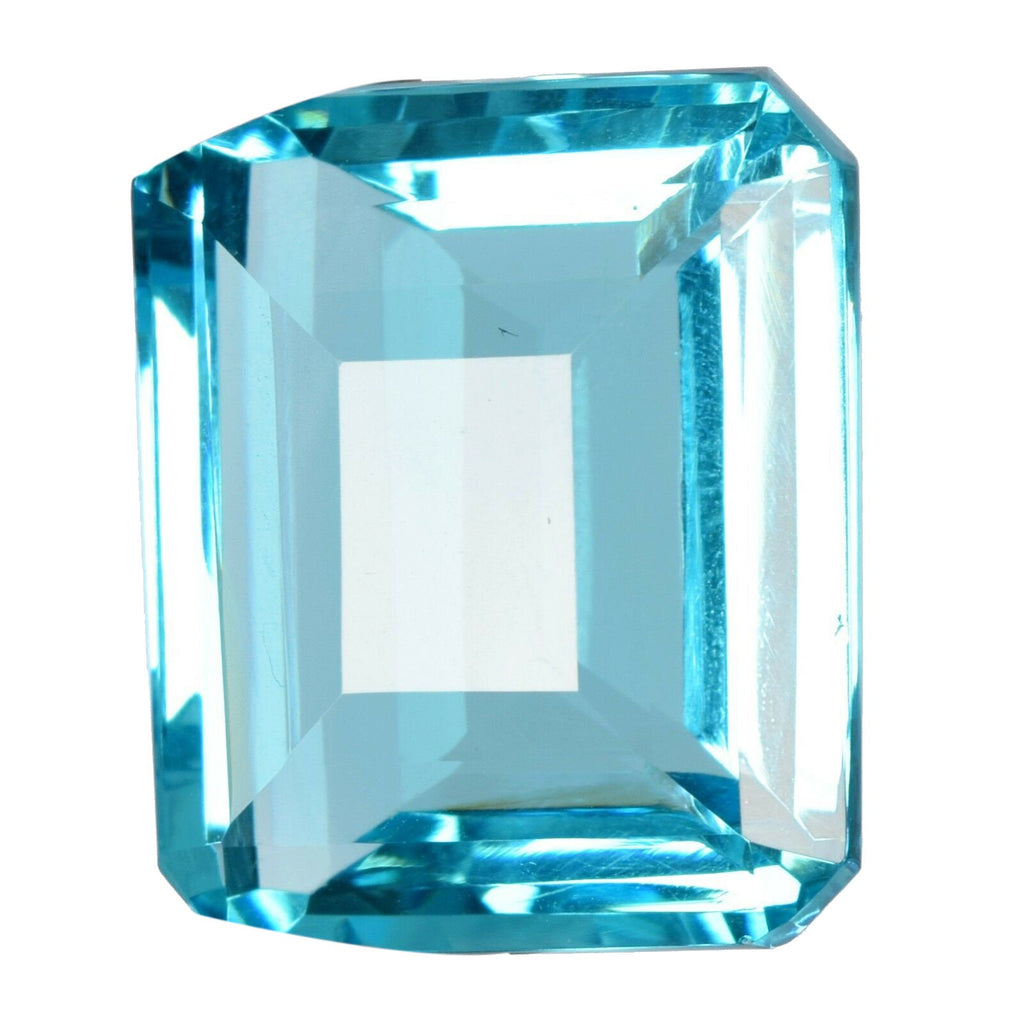 Swiss Blue Topaz Emerald Radiant Shape AAA/AA Quality Loose Gemstone from Russia, Swiss Color Topaz Loose Gemstone for Jewelry Making BV-689