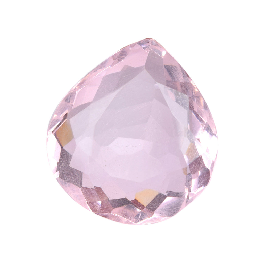 Translucent Pear Cut Topaz November Birthstone Loose Gemstone, Pink Color Lab Created Topaz Loose Gemstone 67.50 Ct.  26x25x14 mm B1-313