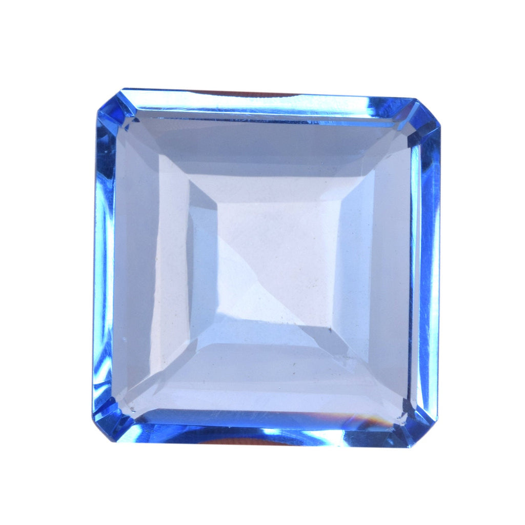 Faceted Topaz Loose Gemstone For Making Jewelry, 141.20 Ct. Translucent  Lab Created Blue Color Loose Gemstone, Topaz Gemstone BU-971