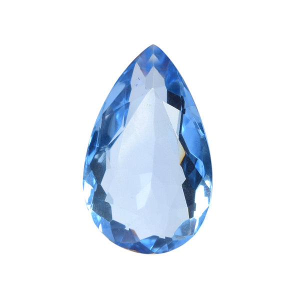 62.50 Carats Blue Topaz AAA Color Gemstone, Singal Piece, Blue Topaz, Pear Cut Shape Faceted Loose Cut Blue Topaz Gemstone, Topaz Gemstone