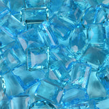 Wholesale November Birthstone Swiss Blue Topaz Gemstone Lot 6 Pieces 500 Ct Jewelry Making Mix Shapes Lab Made Topaz Loose Gemstone Lot