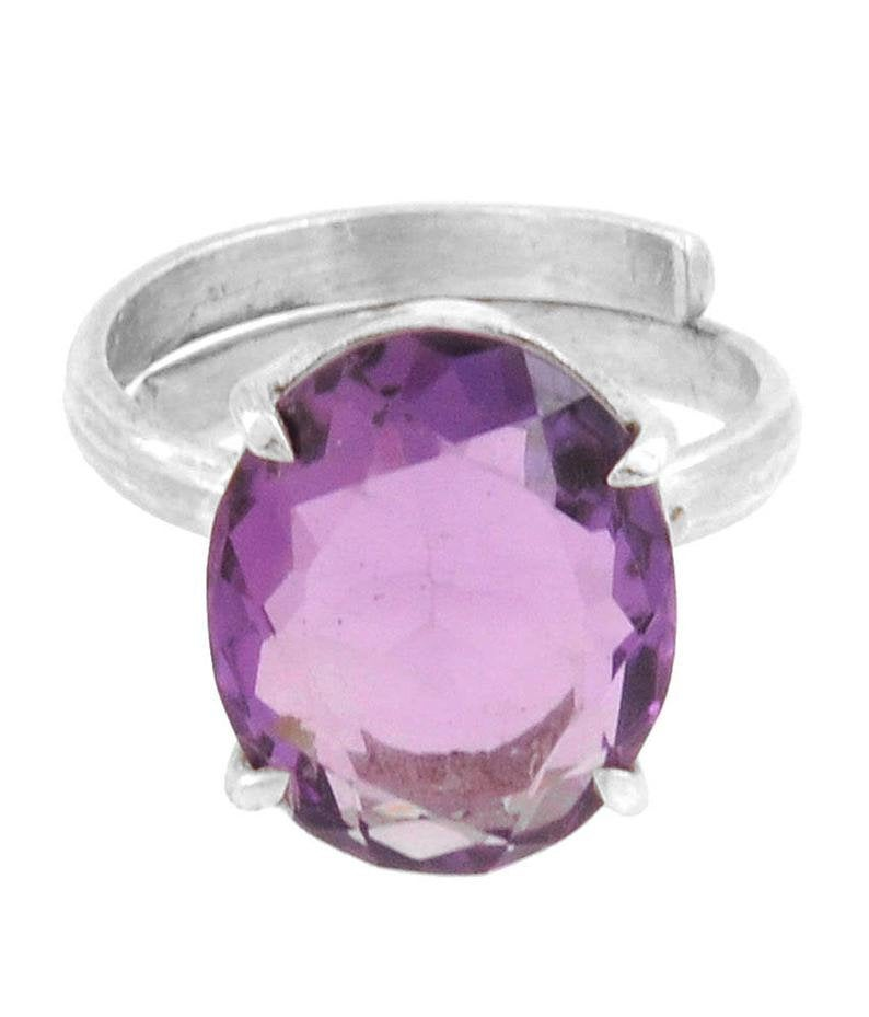 6ct Natural Amethyst Gemstone Ring in Sterling Silver, Excellent Cut & Luster wedding and engagement ring