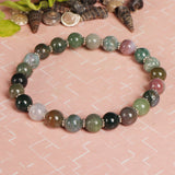 Natural Green Color Agate And Multi Color Agate Gemstone Beads Bracelet, Stretch Band Bracelet, 7-8 mm Gemstone Beads, Chakra Healing Stone