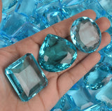 500 Ct Swiss Blue Topaz 6 Pcs Mix Cut Brazilian Loose Gemstone Lot for Sale!!!