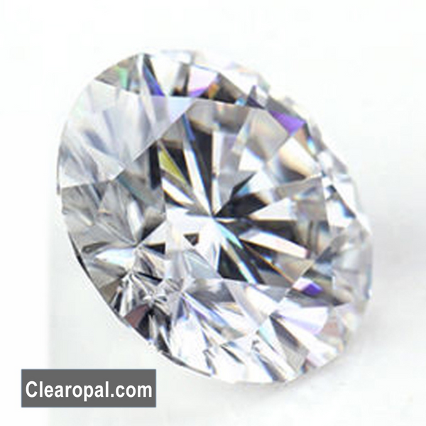 Brilliant Round Cut Loose Moissanite Stone, 1 to 3 Carat Certified Moissanite Best For Jewelry Making