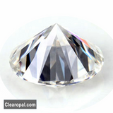 1.00ct TO 3.00 Carat Excellent Grade Loose Moissanite Stone, Brilliant Round Cut Certified Colorless Moissanite Stone