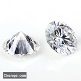 Full Fiery Loose Moissanite Stone, Stunning Round Cut Colorless Moissanite, Sizes Available 1.00 Carat to 3.00 Carat