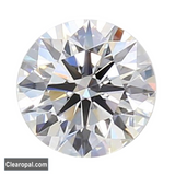 White Color Loose Moissanite Stone, Round Cut Certified Moissanite Use for Jewelry, 0.25 to 5.00 Carat White Moissanite