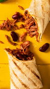 Jake and Nayns Burrito Vegan BBQ Chilli Jackfruit Ⓥ ❆
