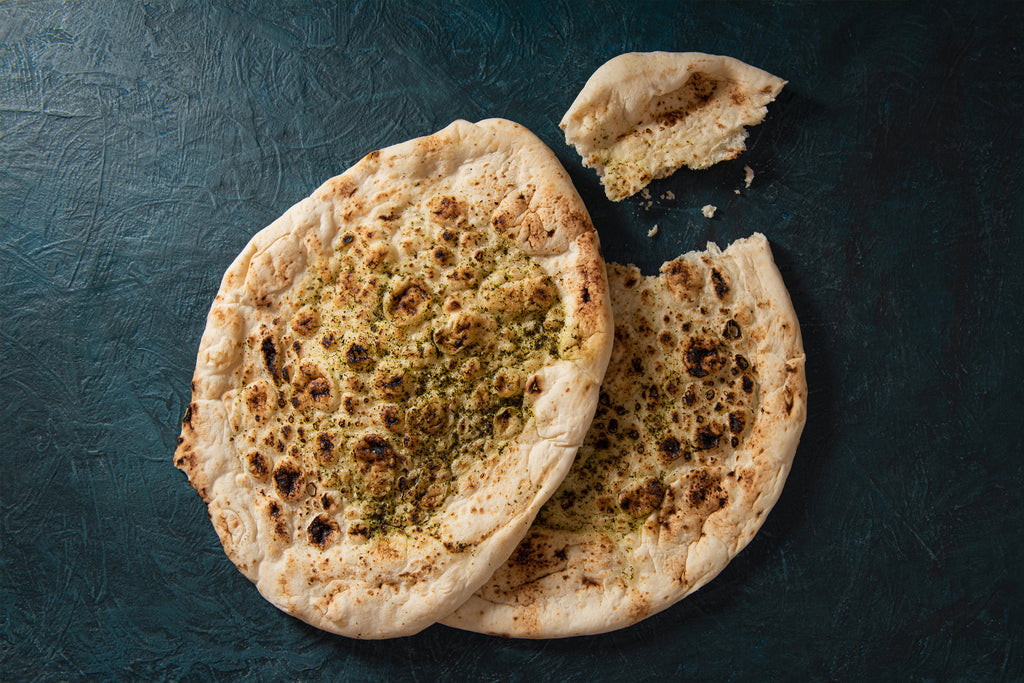 2 x Garlic and Coriander Naan Bread Ⓥ ❆