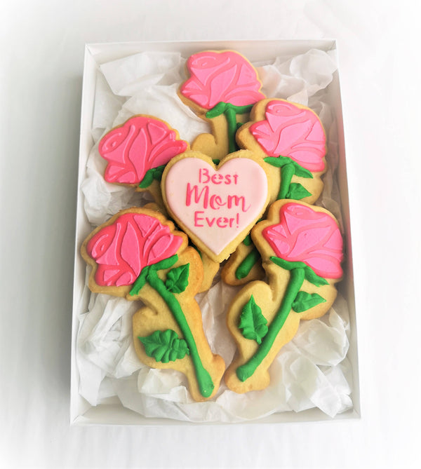 "Mother's Day Cookie Gift Boxes ""Best Mom Ever"""