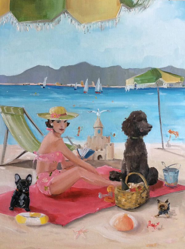 A Day in St. Tropez - Fine Art Print