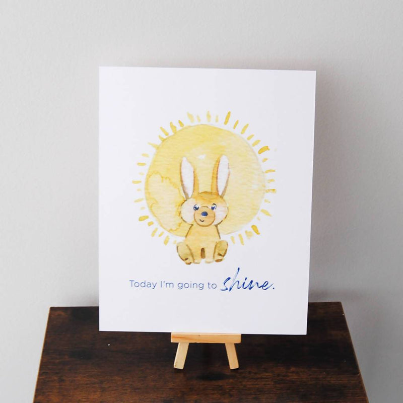 Today I'm Going to Shine Affirmation Poster Print