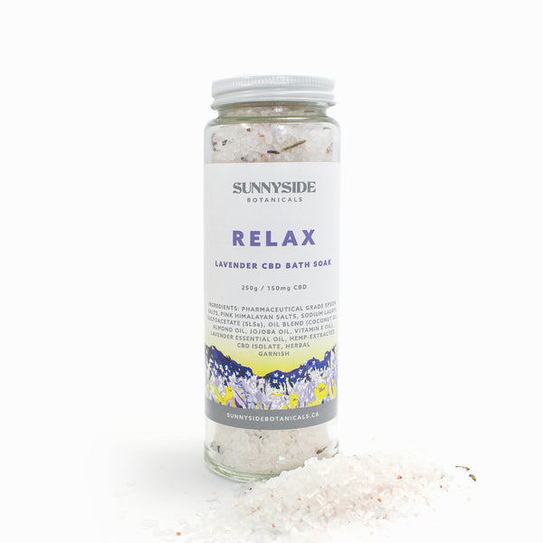 Bath Soak - Relax (Lavender) | 250g / 150mg Hemp-Extracted Oil