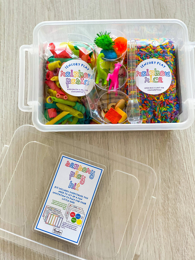 Sensory play kit - includes everything you need to set up multiple versions of a sensory play bin for your little one!