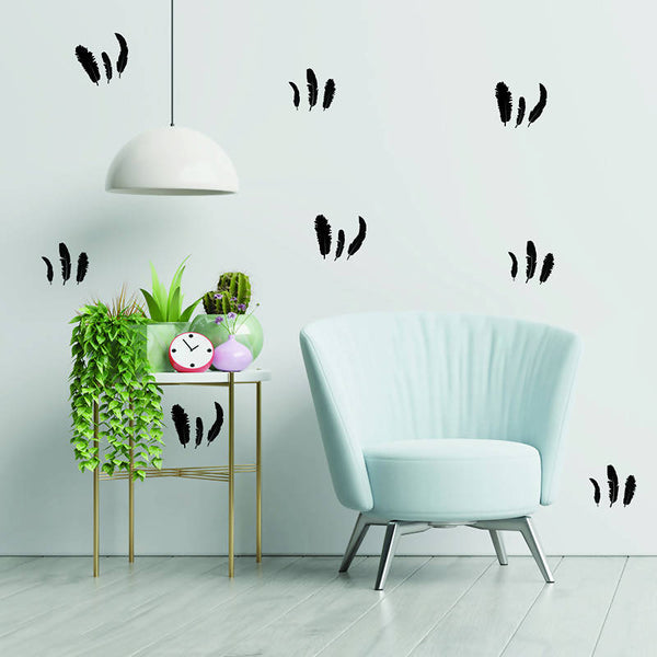 Feathers Hand Drawn Wall Decal