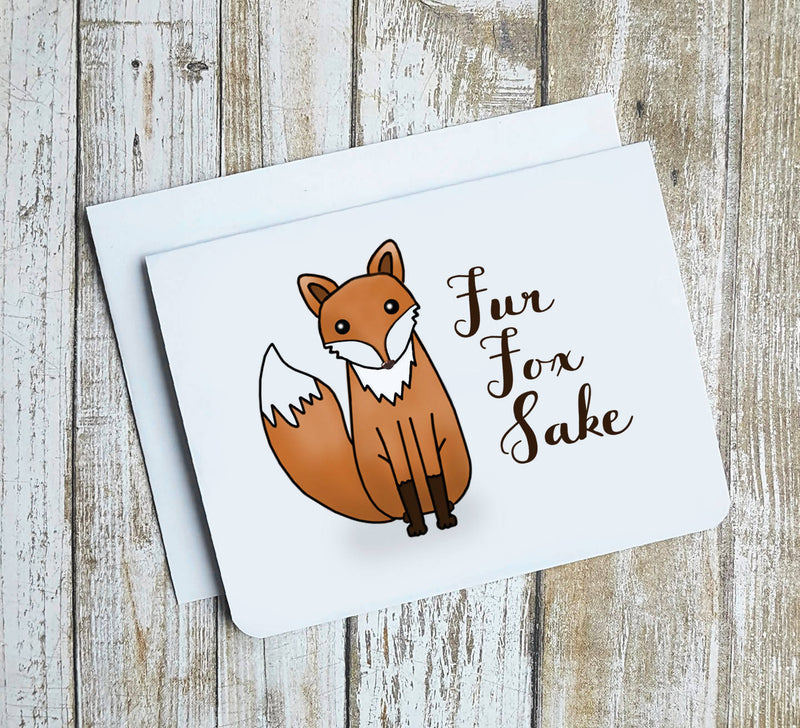 Fur Fox Sake Card
