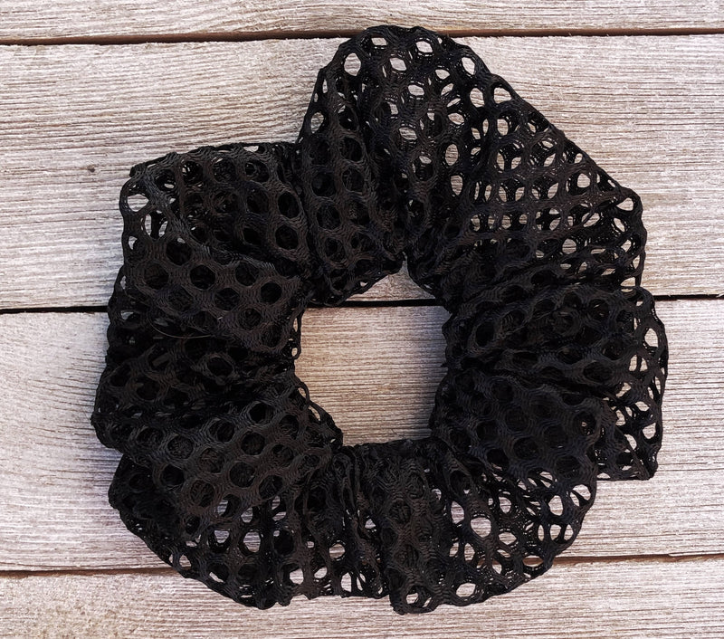 Black Lace- scrunchie | soft scrunchie