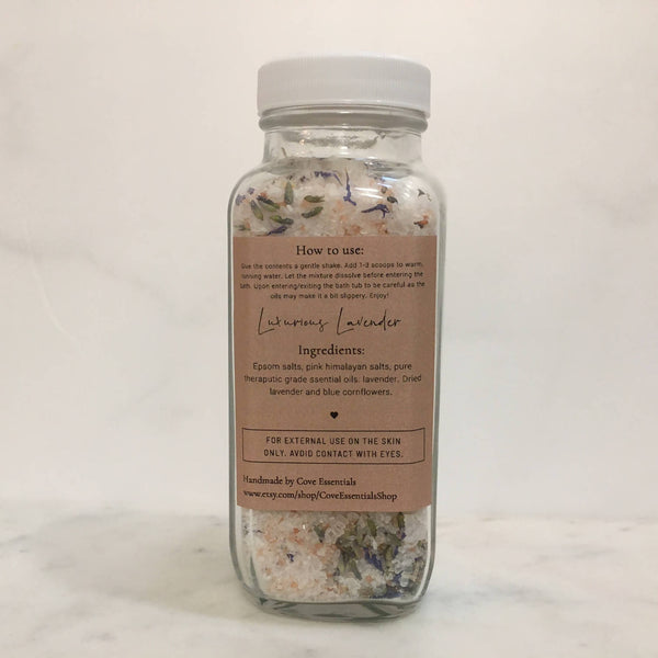 Luxurious Lavender Bath Salt Soak -8oz.
