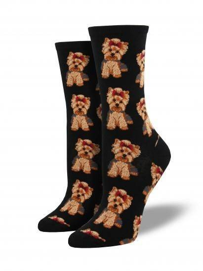 Socksmith Ladies Yorkies Graphic Socks