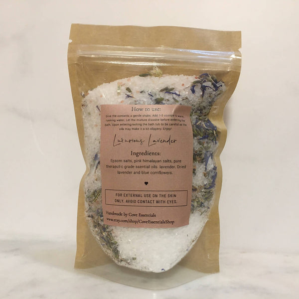 Luxurious Lavender Bath Salt Soak -5oz.