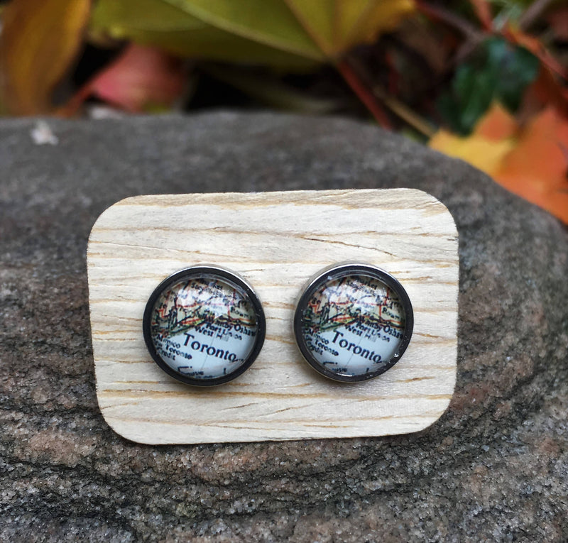 Toronto Map Earrings
