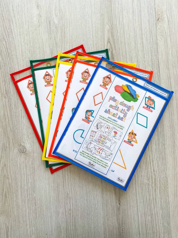 Play dough activity sheets pack (Includeds 18 activity sheets)