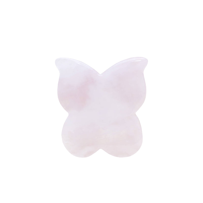 Rose Quartz Butterfly Gua Sha