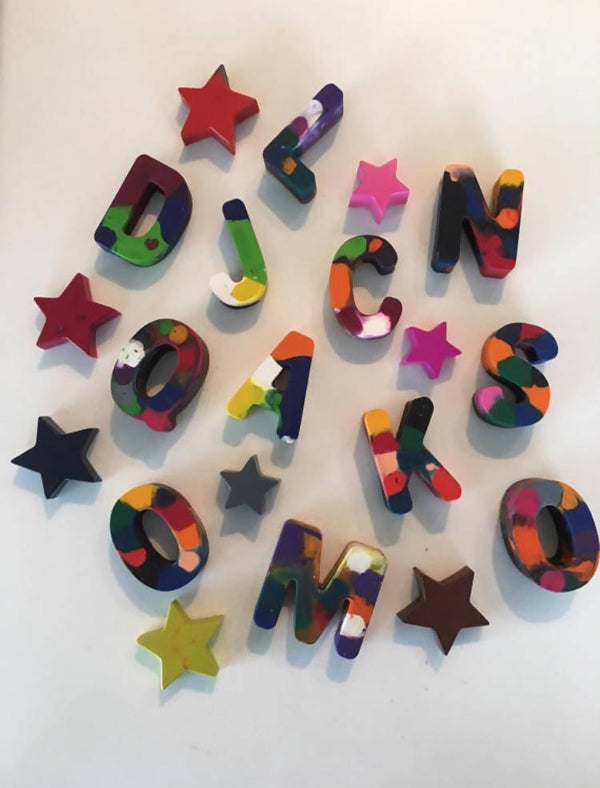 Handmade Letter / Name Crayons